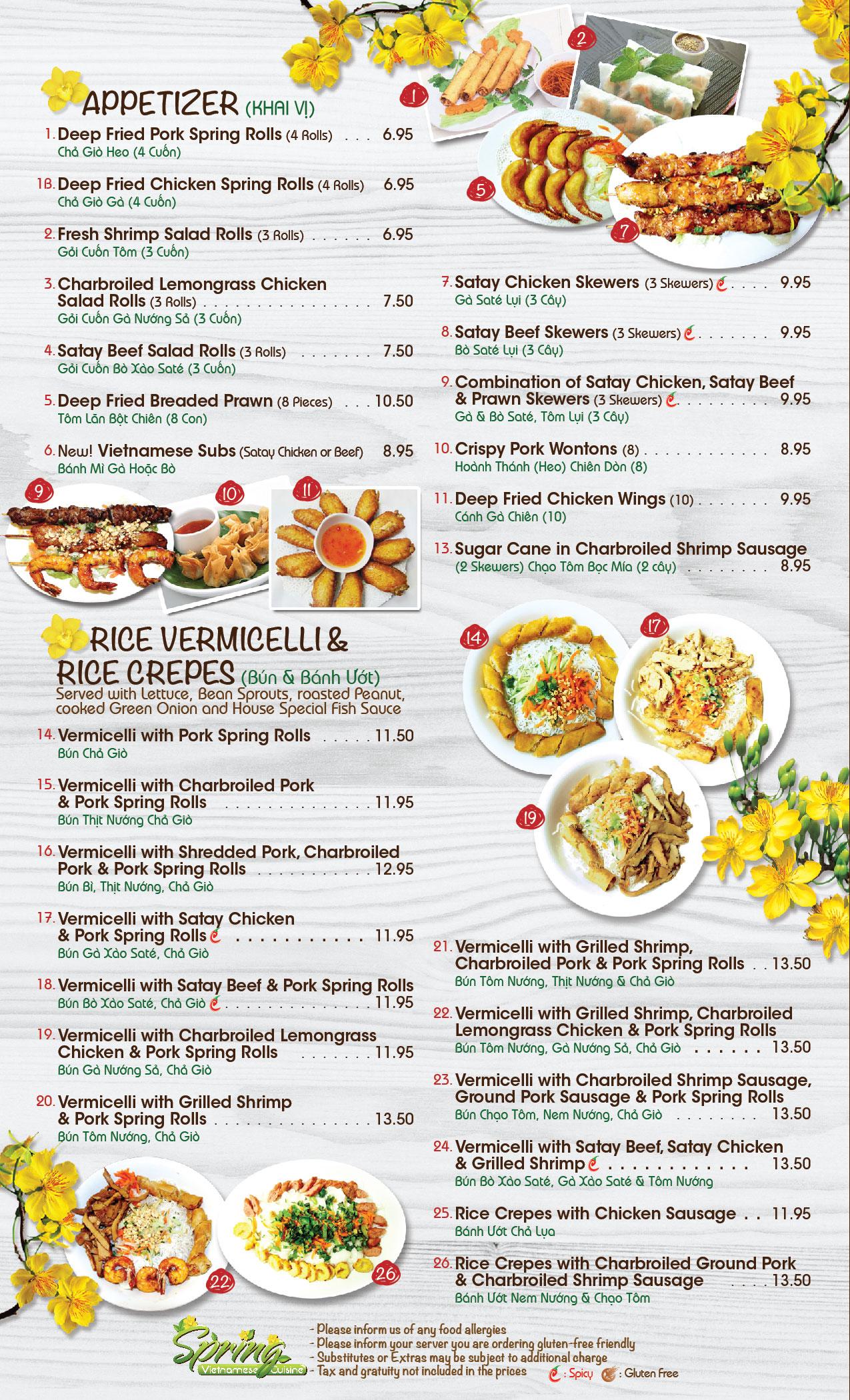 Vietnamese cuisine restaurant asian family food in calgary for Cuisine restaurant